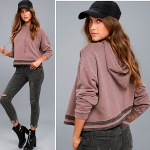 Others Follow Hudson Oversized Hoodie Rose Taupe